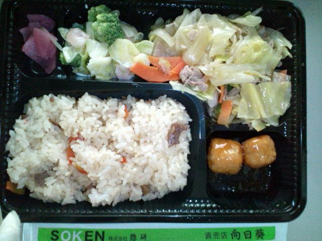 肉野菜炒め弁当(水道橋/向日葵)
