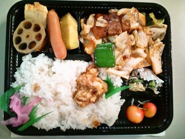 回鍋肉弁当(飯田橋/めん房)