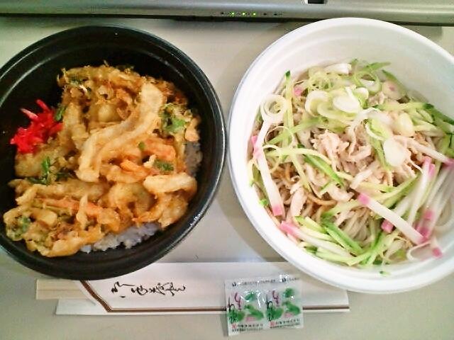 和風冷麺とミニかき揚げ丼セット(九段下/小諸そば)
