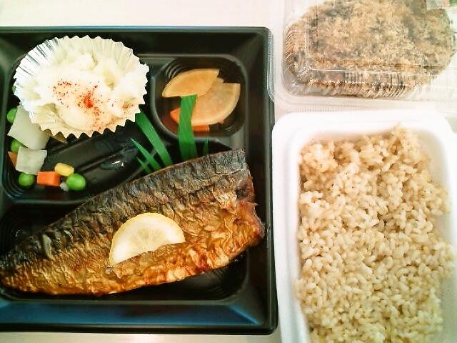 鯖の塩焼き弁当・キャベツメンチ(九段下/コーチャル)