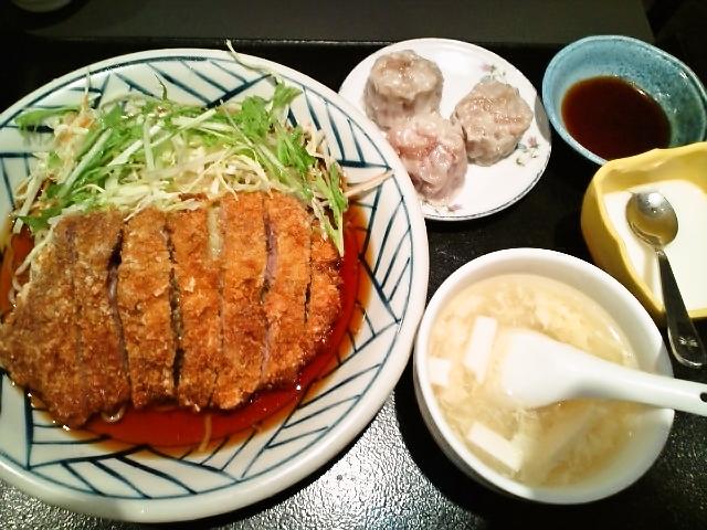サラダパイコー冷やし中華セット(神保町/王家私菜)