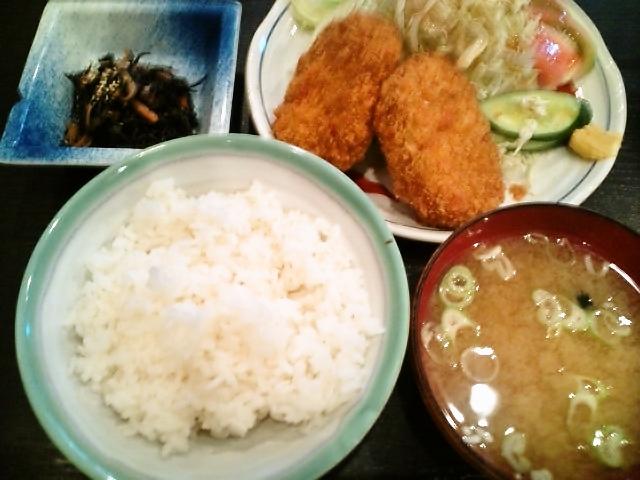 コロッケ定食(水道橋/加賀屋)
