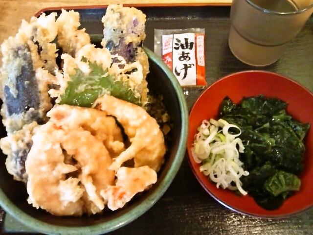 ミニ天丼(水道橋/とんがらし)