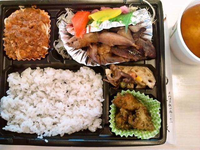ヤリイカの煮つけ弁当(飯田橋/魚政)