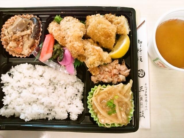 ミックスフライ弁当(飯田橋/魚政)