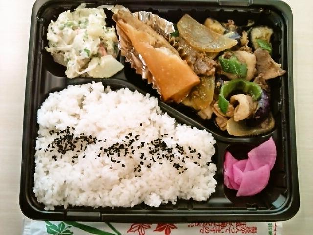 特製日替わり弁当(豚肉と野菜の味噌炒め・ポテトサラダ)(水道橋/三夢來)