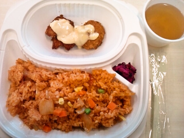 チキンライス弁当・玉子スープ付き(飯田橋/キッチンワタル)