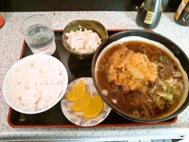 天ぷらそばセット(神保町/利根そば)