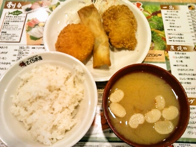 B定食(盛り合わせ)(水道橋/さくら水産)