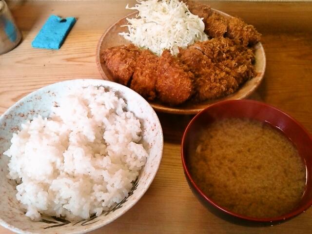ひれかつ定食(飯田橋/いもや)