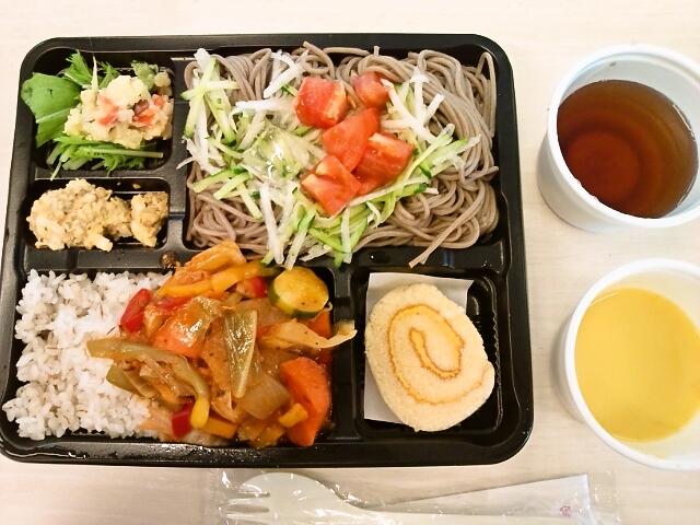 ひんやりトマトそば&ラタトゥーユライス弁当・冷製パンプキンスープ(九段下/ガーデン)